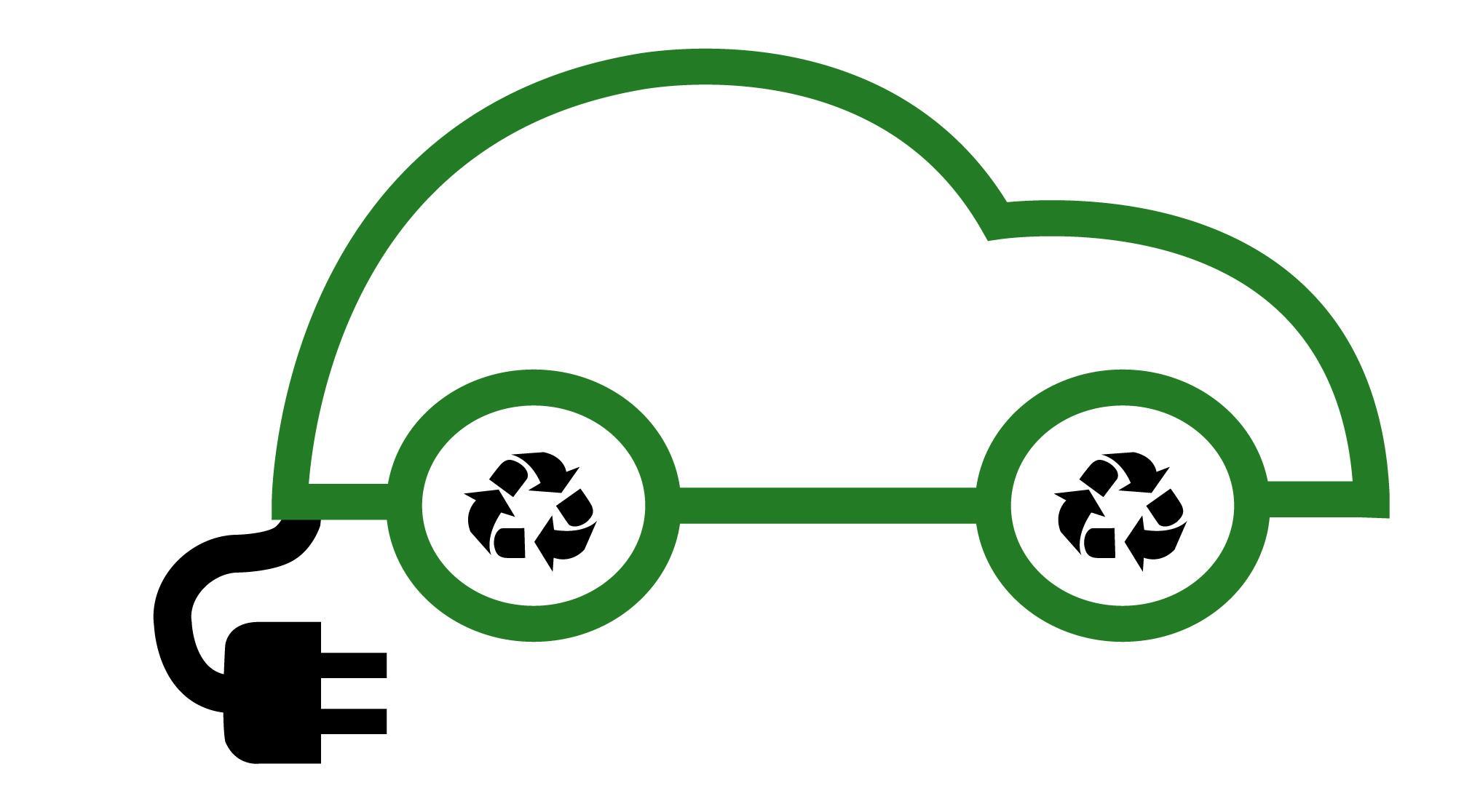 Electric Car Recharge Logo